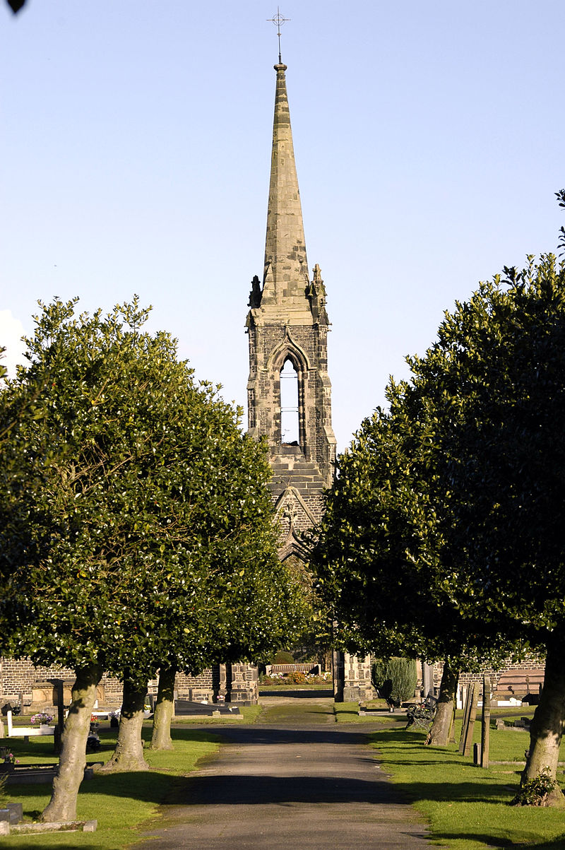 Middlewich Chapel showing the cemetary