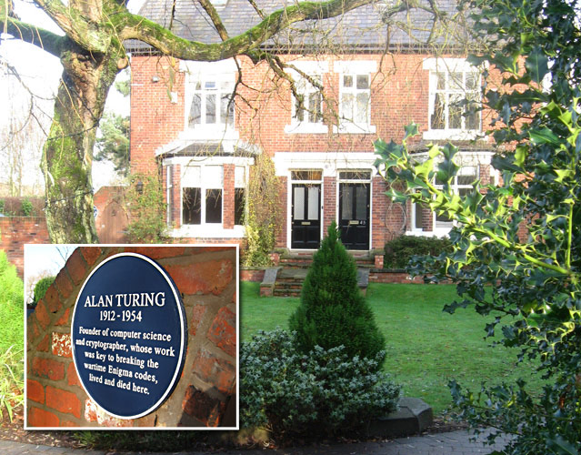 Alan Turing lived in this house in Wilmslow